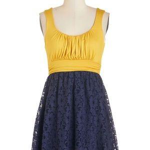 ModCloth Artisan Iced Tea Dress in Lemon Blueberry